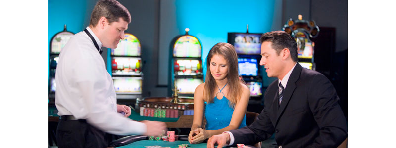 Gambling Table in Casino
